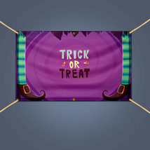 TRICK OR TREAT Halloween Banner, 5' X 3' Outdoor Party Decor Hanging Vin... - $62.05