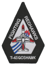 US NAVY VT-21 REDHAWKS T-45 GOSHAWK SHOULDER PATCH- WITH VELCO NEW!!! @ - $11.87