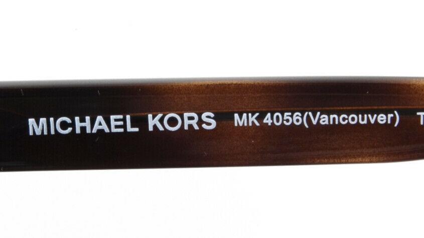 NEW MICHAEL KORS MK4056 Vancouver 3336 TORTOISE EYEGLASSES FRAME 51-17-140 B35mm