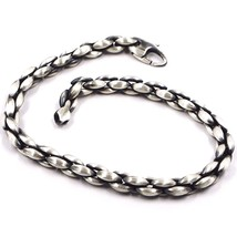 SILVER 925 BRACELET, BURNISHED SATIN, BRAIDED, BRAID, TUBE, 21.5 CM - $147.14