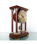 WARMINK Mantel CLOCK Dutch Vintage 12.4 INCH! PILLAR TOP 2 Bell Chime HI... - $499.00