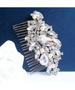 Statement Swarovski Hair Comb - Crystals and Pearl Accessory - $92.00