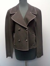 ST. JOHN Black Long Sleeves Double Breasted Solid Blazer Jacket Sz 12 NW... - $130.30