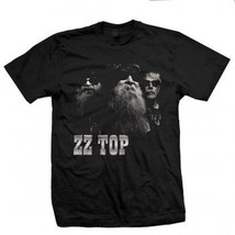 ZZ Top-Black Photo-Medium Black T-shirt - $14.49