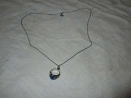 LaSalle College , Ring Necklace , Blue Stone , Vintage , Collectable - $49.50