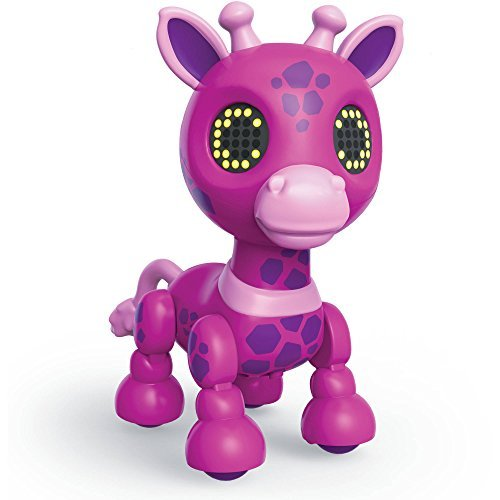 Zoomer Zuppies Safari, Gigi Interactive Pink Giraffe with Lights, Sounds and Sen