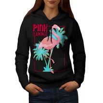 Pink Flamingo Island Sweatshirt Hoody Tropical Women Hoodie - $21.99+