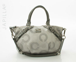 Coach 15935 Madison Dotted Op Art Sophia Satchel purse - £106.22 GBP