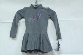 Mondor Model 24334 Born to Skate Skating Dress - Heather Grey Size Child 6x-7 - $80.00