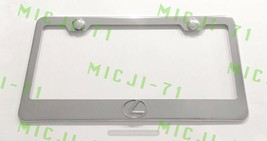 3D Lexus F Sport Emblem Stainless Steel License Plate Frame Rust Free - $19.99