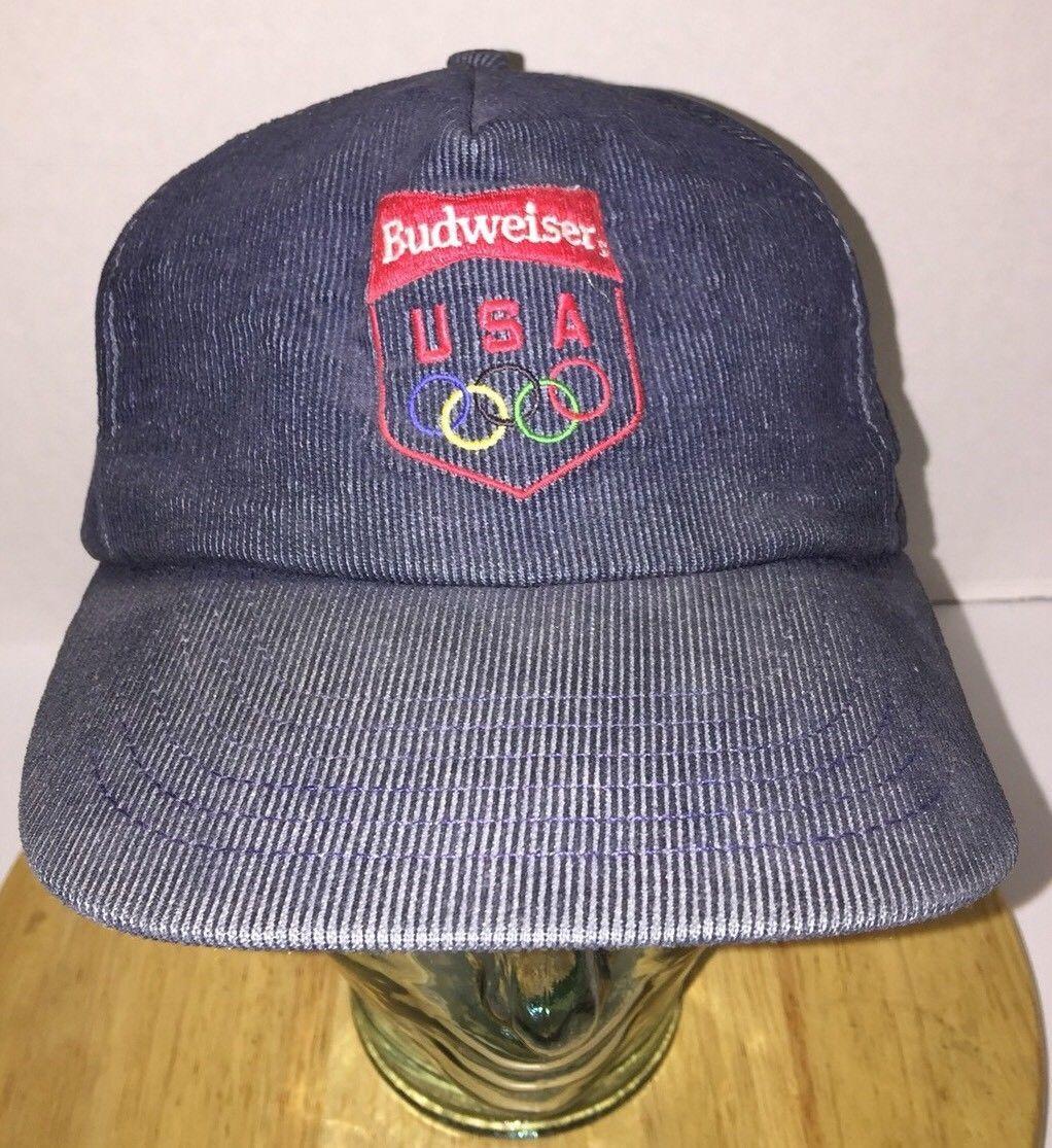 Vintage Budweiser Usa Olympics 80s Denim Hat and 18 similar items fa2386fd5a03