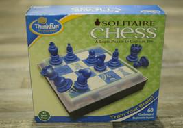 Thinkfun Solitaire Chess 60 Challenges Logic Game Brain Fun 8+  - $19.99