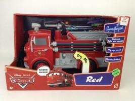"Red Fire Truck Disney Cars Lights Sounds Supercharged 12"" Fire Truck 200... - $89.05"