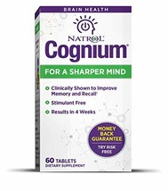 Natrol Cognium Tablets, Brain Health, Keeps Memory Strong, #1 Clinically Studied