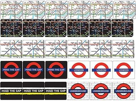 London Underground Boxed set of 30 cork backed London Underground drinks... - $24.49
