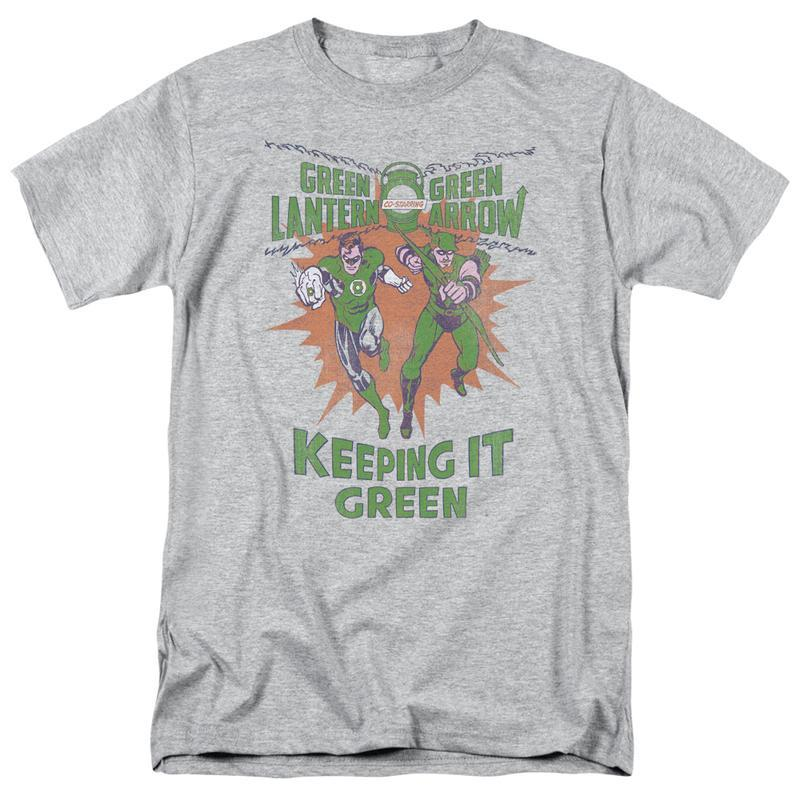 Arrow retro dc comics graphic tee keeping it green for sale online graphic t shirt gl355 at 800x