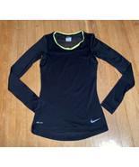 Womens Nike Dri Fit Running Shirt Black XS - $9.75