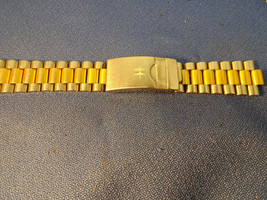 Hamilton double clasp stainless steel two tone watch band missing clasp ... - $125.00