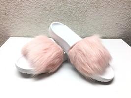 Ugg Royale Baby Pink Toscana Fur Fluffie Slide Slippers Us 9 / Eu 40 / Uk 7.5 - $72.93