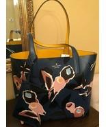 Kate Spade Reversible Tote WKRU5967 Arch Paper Rose Blue Multi NWT - $184.14