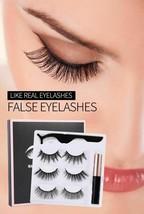 Magnetic set Eyelash Eyelashes Liquid Eyeliner Set5 Natural Long Magneti... - $13.89
