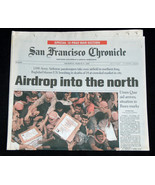 9/11 IRAQ WAR San Francisco Chronicle March 27 2003 Airdrop Into North N... - $39.98