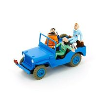 Blue Willys Jeep Destination Moon Voiture Tintin Cars Atlas 1/43  image 3