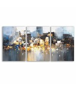 wall26 - 3 Plane Canvas Wall Art - Color Block Oil Painting Abstract Art... - $79.22