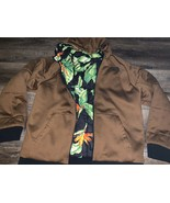 The North Face ~ Men's Puffy Reversible Coal Brown Tropical Hooded EUC ~ L - $107.51