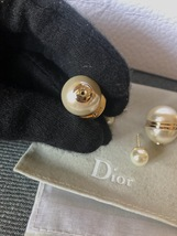 AUTH Christian Dior LIMITED EDITION MISE EN DIOR HALF PEARL EARRINGS  image 9