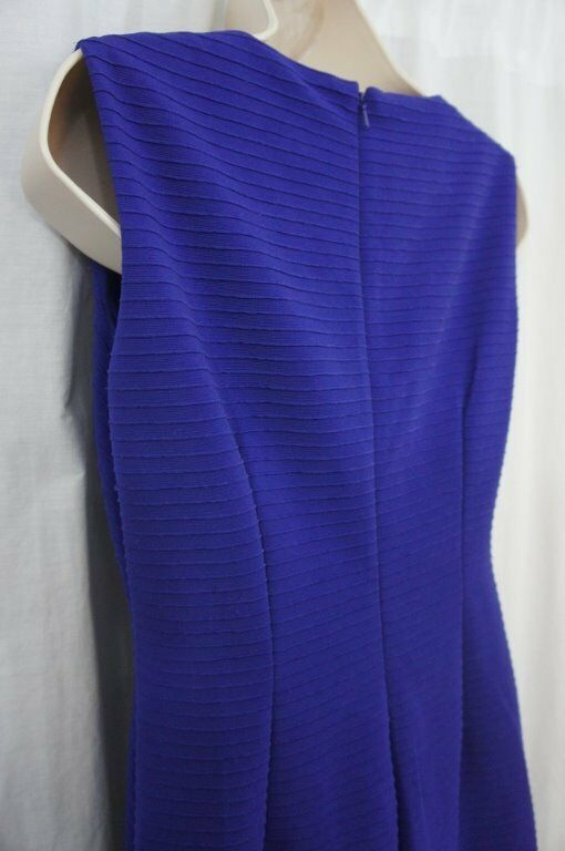 Anne Klein Dress Sz 4 Ultra Violet Purple Sleeveless Business Cocktail Party image 12