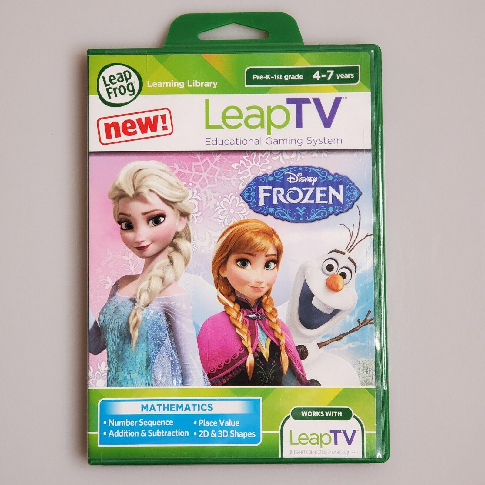 LeapFrog LeapTV DISNEY FROZEN Educational Game Pre-K-1st Grade 4-7yrs Math NEW - $8.86