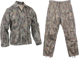 Hunting Camo Tactical BDU Uniform, Trees Leaves Woods Forest Green Pants... - $34.99+