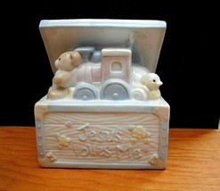Enesco Ceramic Jesus Loves Me White Chest with Toys - $39.59