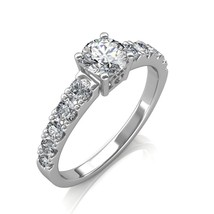 Platinum 1.40 Carat Round Cut Diamond Engagement Ring - $6,421.13