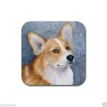 Rubber Coasters set of 4, from art painting Dog 89 Pembroke Welsh Corgi ... - $10.99