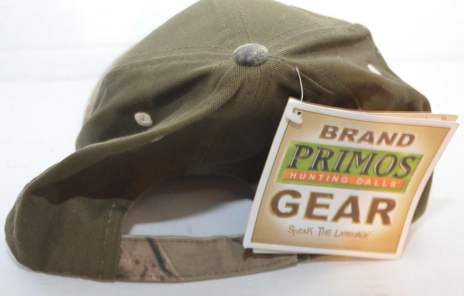 Primos Hunting Calls Cap Hat Hook & Loop Adjustable Deer Camo Realtree HD