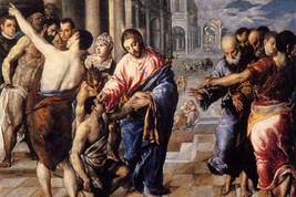 Christ healing the blind by El greco - Art Print - $19.99+