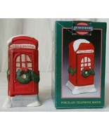 MEMORIES COLLECTION ILLUMINATED PORCELAIN TELEPHONE BOOTH - $9.89