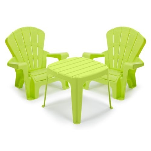 kids play set adirondack chair table baby kid child patio yard furniture plastic play tables. Black Bedroom Furniture Sets. Home Design Ideas