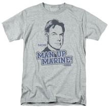 NCIS TV series Leroy Jethro Gibbs Man Up Marine graphic t-shirt CBS975 image 1