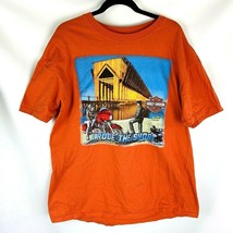 Harley Davidson men's T-shirt xl orange Marquette Michigan I Rode the Shore - $19.94