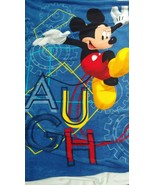 Mickey Mouse Clubhouse Laugh Gears child throw blanket 42x60 Blue - $29.69