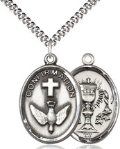Confirmation / Chalice Medal - Pewter Pendant