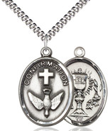 Confirmation / Chalice Medal - Pewter Pendant - $51.99