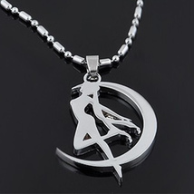 Sterling Silver Sailor Moon Tsukino Usagi Necklace Pendant - Cosplay Anime  - $72.00