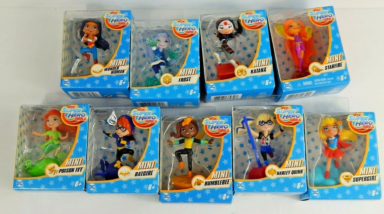 DC Super Hero Girls Mini Figures Lot Of 9 Different Characters