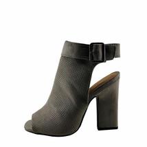 Qupid Lite-03 Grey Women's Open Heel Ankle Strap Peep Toe Bootie - $31.95
