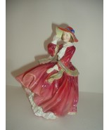 Royal Doulton Top of O The Hill Red Dress Lady Figurine - $46.79