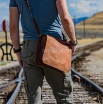 """15"""" Men's Genuine Leather Vintage Laptop Messenger Handmade Shoulder Bag Satchel image 2"""